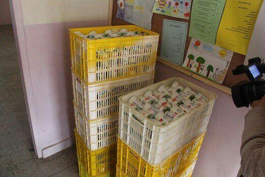 توزیع ۴۴ هزار عدد شیر در مدارس شهرستان مهاباد