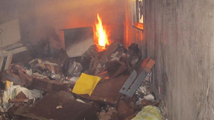 اطفاء دو مورد آتش سوزی در بوکان با یک مصدوم