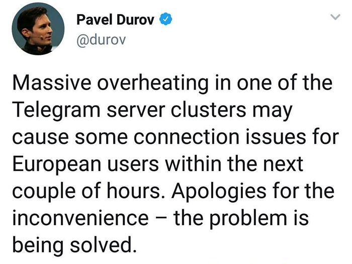 توئیت پاول دوروف