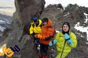 قله ۵۱۶۷ متری آرارات ترکیه تسلیم اراده بانوی کوهنورد کورد دهلرانی