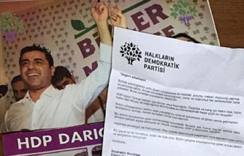 نامه صلاح الدین دمیرتاش از زندان ادیرنه به نمایندگان و اعضای HDP