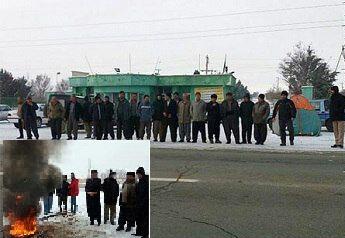 ادامه اعتراض کارگران کشت و صنعت مهاباد در چادرها/ مذاکرات در اداره کار به نتیجه نرسید