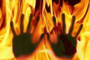 آتنا ، بنیتا و این بار صادق برمکی / جوان مهابادی را زنده زنده در آتش سوزاندند