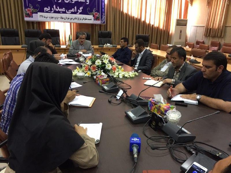 نشست مطبوعاتی / ارائه گزارش عملکرد ۴ ساله دوره چهارم شورای اسلامی شهر مهاباد