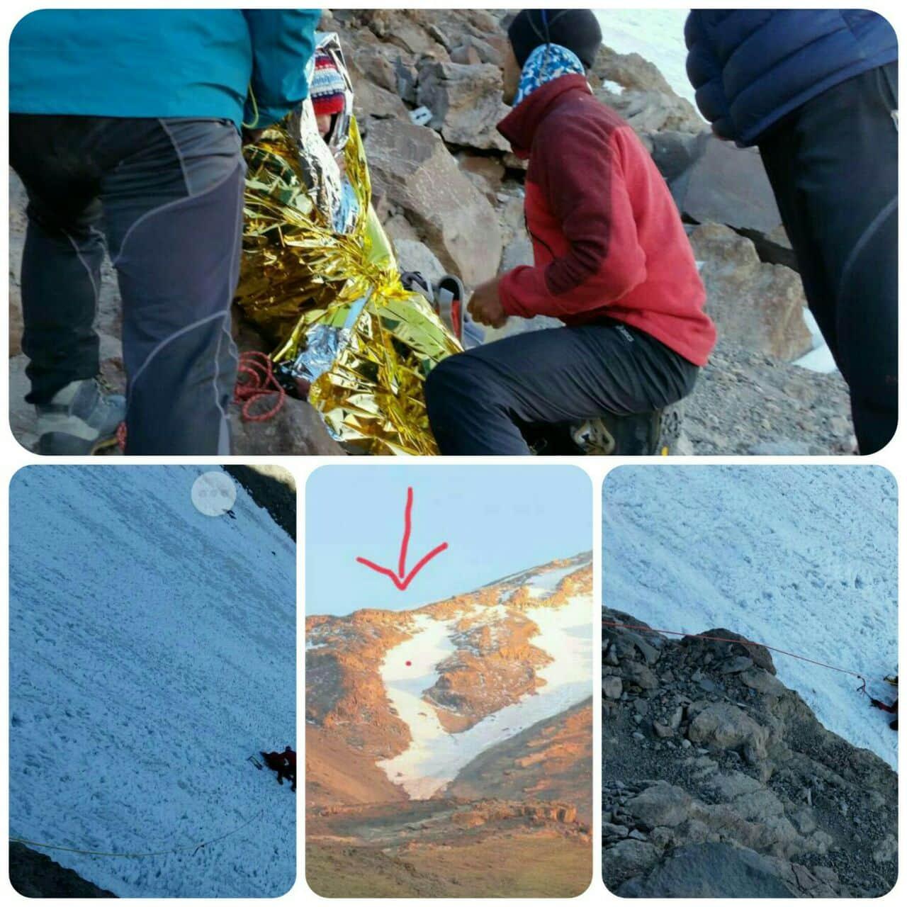 ⭕️ کوهنوردان اهل مهاباد در یک عملیات بسیار دشوار و در اقدامی انسان دوستانە جان یک کوهنورد گروە تهران را در دماوند نجات دادند
