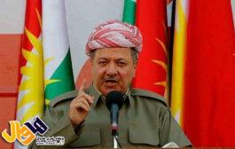 پیام مسعود بارزانی رئیس اقلیم کوردستان در خصوص اتفاقات کرکوک
