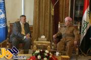 دیدار نماینده ویژه دبیر کل سازمان ملل در امور عراق با بارزانی