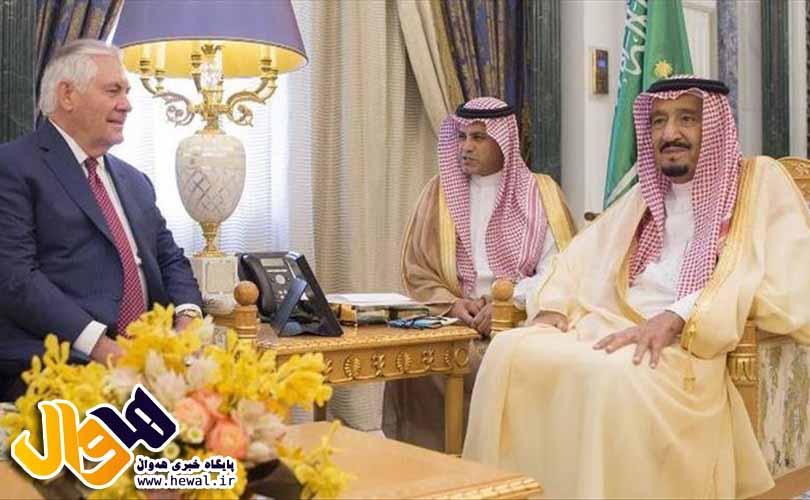 دیدار وزیر خارجه آمریکا با پادشاه عربستان سعودی در ریاض